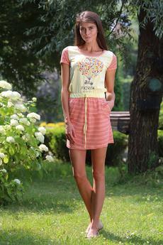 Домашнее платье с поясом на кулиске FIORITA со скидкой