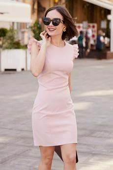 Платье розовая пудра Mollis